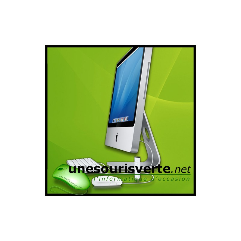 imac 24 pouces core 2 duo apple avec graveur dvdrw superdrive occasion. Black Bedroom Furniture Sets. Home Design Ideas