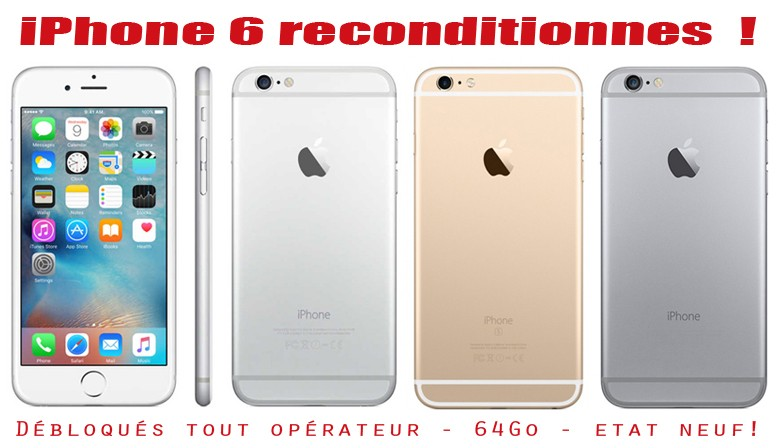 Arrivage d'iPhone reconditionnés !